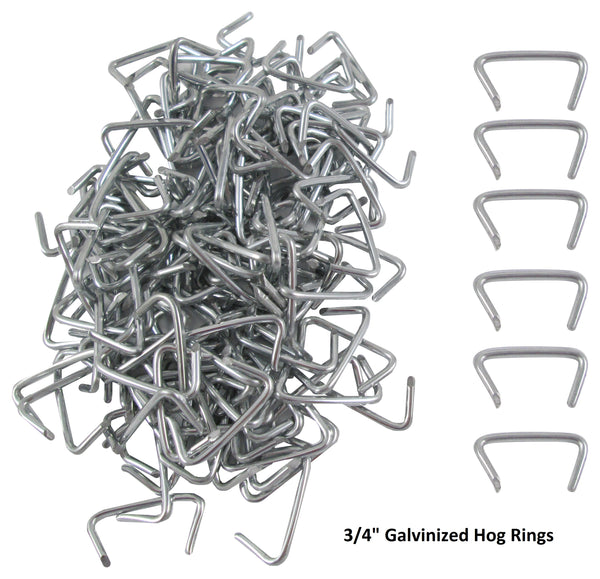 Hog Ring Pliers & 150 Galvanized Hog Rings, Professional Upholstery Installation Kit