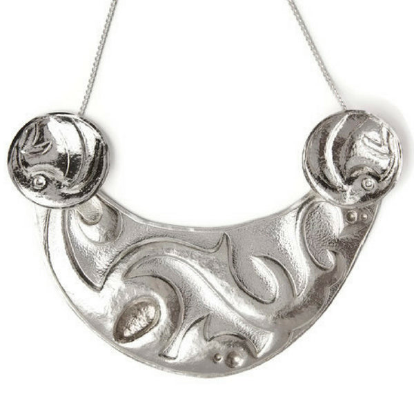 Meara Sterling Silver Bib Necklace