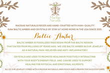 Baltic Amber and Crystal Information Fact Sheet