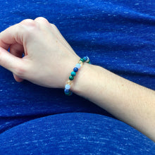 Pregnant woman wearing Diabetes Support Crystal Bracelet