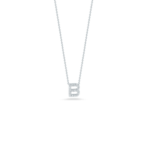 Love Letter B Pendant with Diamonds