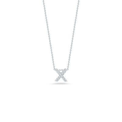 Love Letter X Pendant with Diamonds