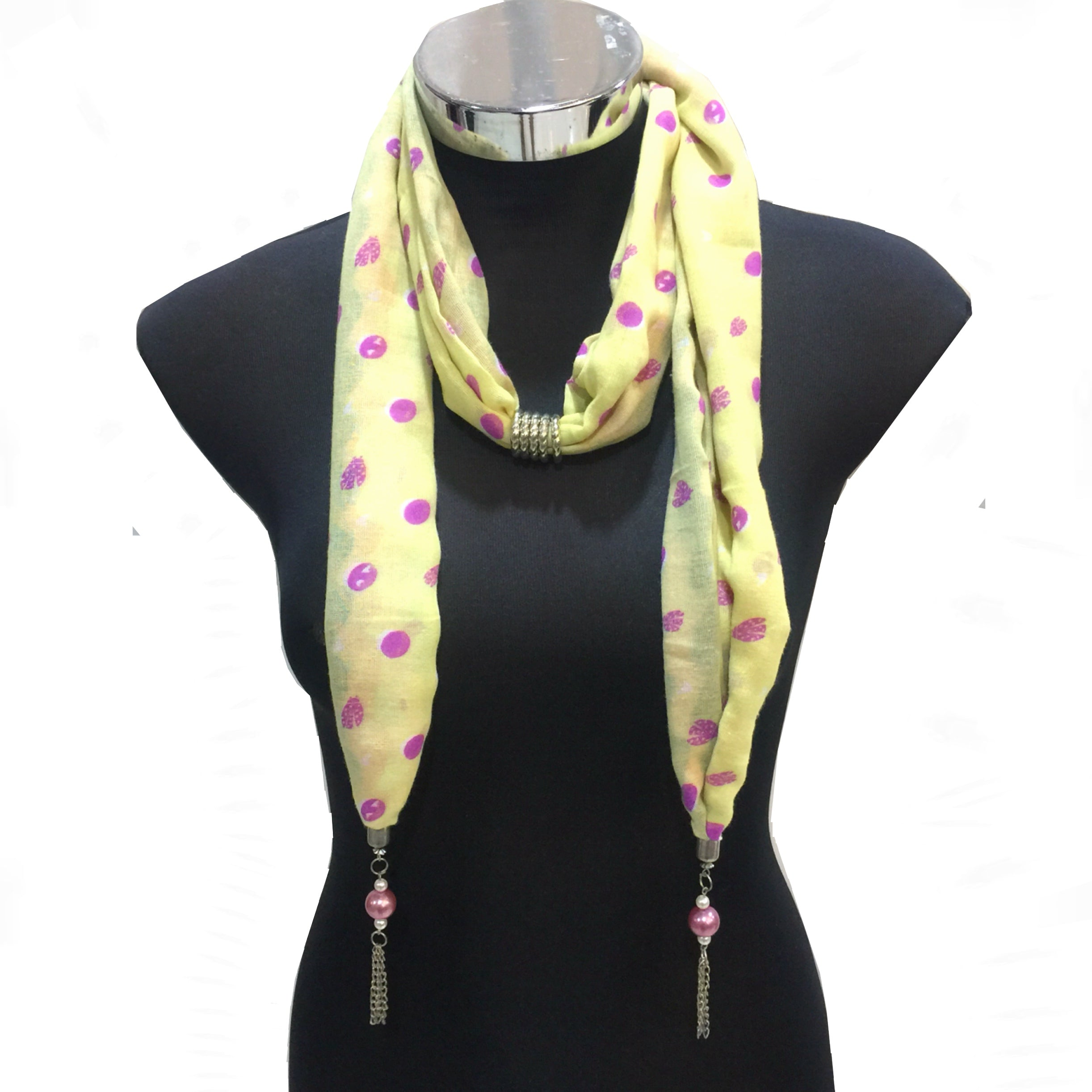 Scarf With Jewellery Pendant -SC018Y