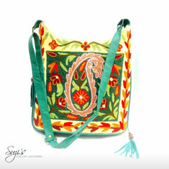 Hannah All Over Embroidered Bag