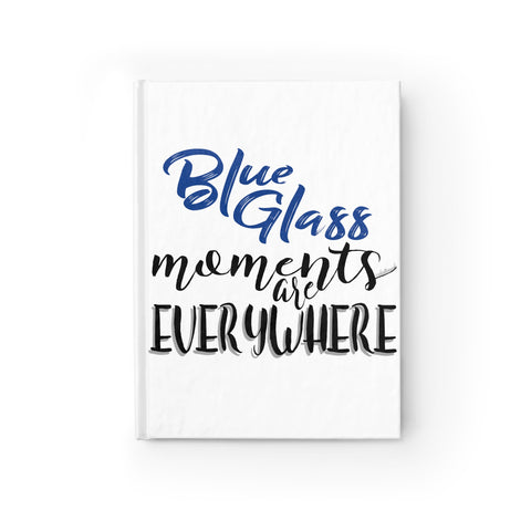 Blue Glass Moments - Journal Ruled Line