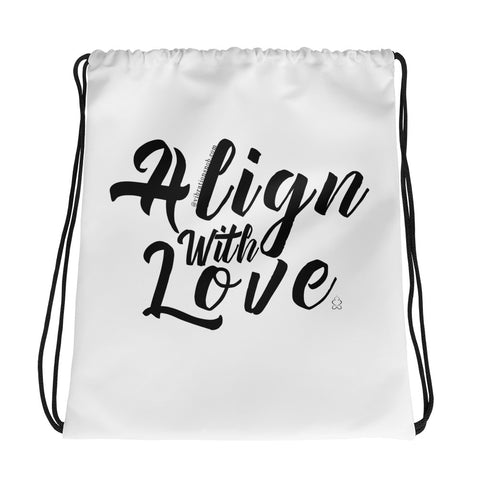 Align With Love - Drawstring bag