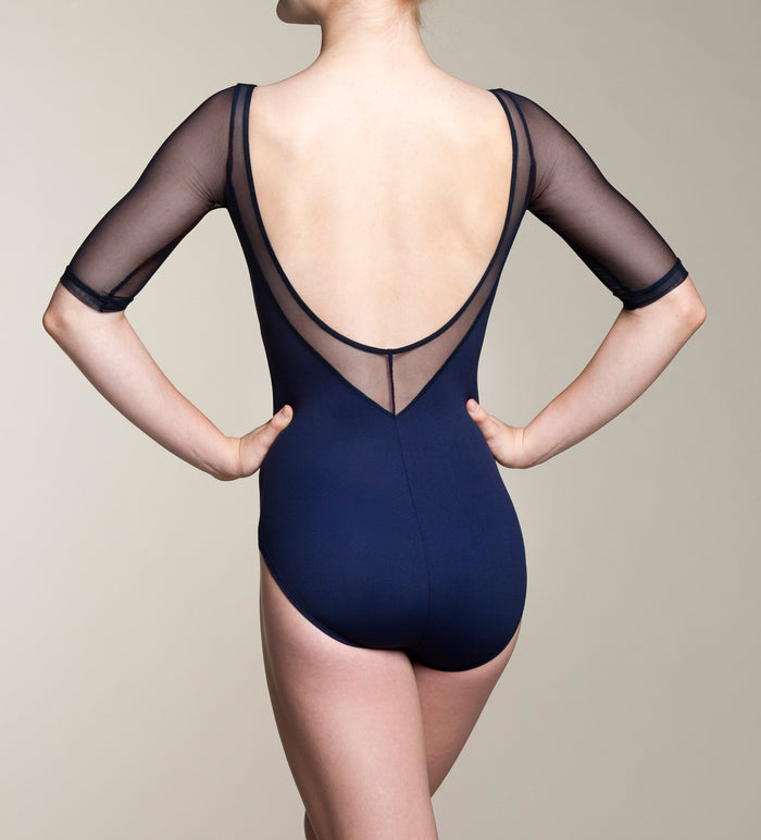 Ainsliewear Celeste Leotard with Mesh