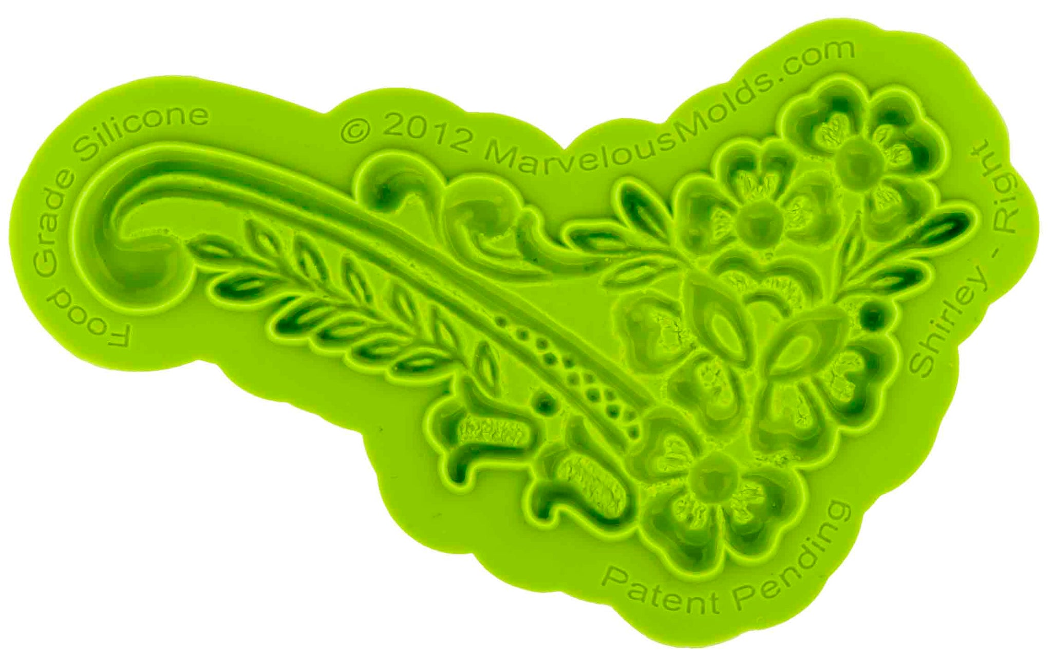 Shirley Right Lace Mold - Dragonfly Cake Supply, Alberta, Canada