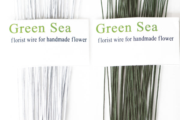 Floral Wire - Green or White