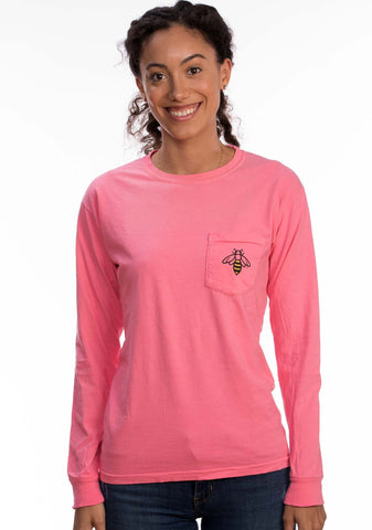Long Sleeve Pink Bee