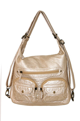 Convertible Crossbody Backpack-Champagne-Ampere Creations