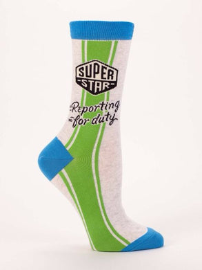 Superstar Reporting For Duty,  W-Crew Socks