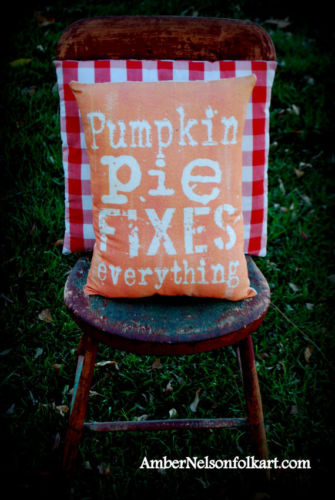 Fall harvest Thanksgiving Pumpkin Pie fixes everything Halloween Autumn pillow