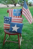 Patriotic American Flag Victorian floral roses lady liberty antique old looking