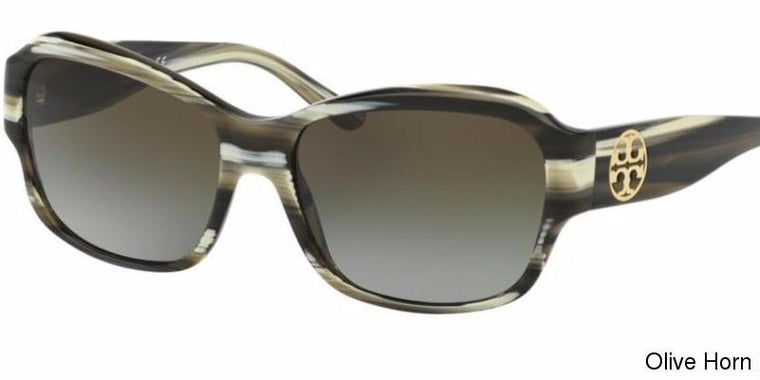 Tory Burch Stacked T Rectangle Sunglasses