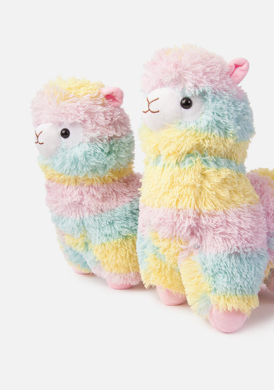 Rainbow Alpaca Plush (2 Sizes)