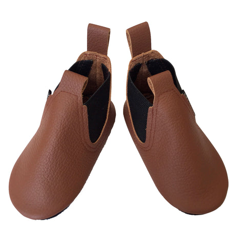 Brown soft sole boots