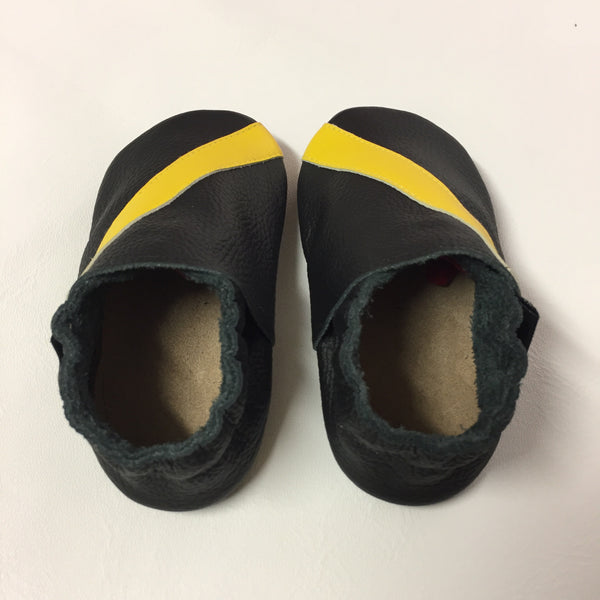 Black Yellow Baby Sports Shoes