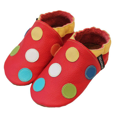 Red Yellow Spotty Shoes