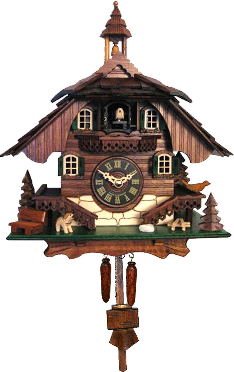 "Battery-operated Cuckoo Clock - Full Size - - 10.5""H x 9""W x 6.5""D - German Cuckoo Clocks"