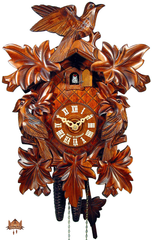 Cuckoo Clock 1-day-movement Carved-Style 33cm by August Schwer - German Cuckoo Clocks