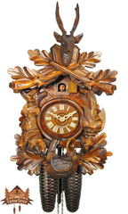 Cuckoo Clock 8-day-movement Carved-Style 40cm by August Schwer - German Cuckoo Clocks
