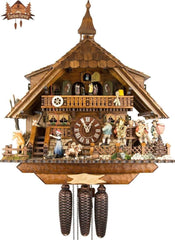 Cuckoo Clock 8-day-movement Chalet-Style 47cm by August Schwer - German Cuckoo Clocks