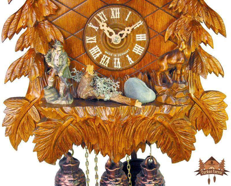 8-Day Musical Chalet Clock Eagle Perched, 19.7 inch - German Cuckoo Clocks