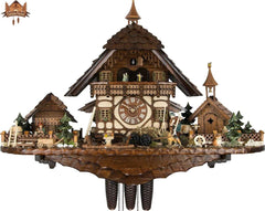8 Day Clock of the Year Musical Chalet Clock Farm House 25.6 inches - German Cuckoo Clocks