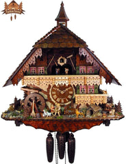 8 Day Musical Chalet Clock Farm Stead 25.6 inch - German Cuckoo Clocks