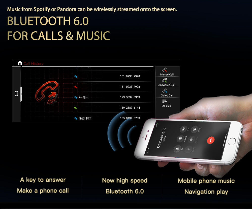 Bluetooth 6.0 for android head unit