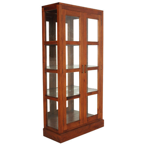 MONTAGUE San Francisco Teak Glass -Display-Cabinet WTC288