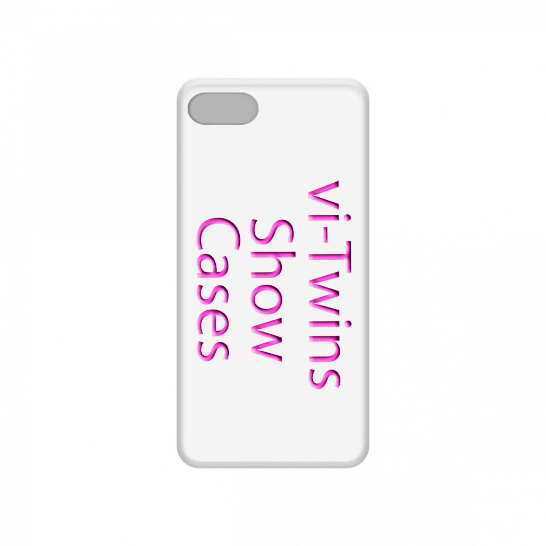 vi-Twins - Funda Móvil White Show Cases Pink - Merchanfy Imprime tus camisetas