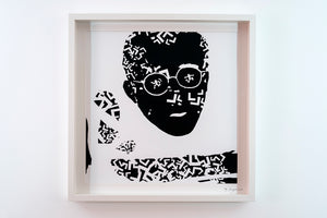 "HARING - framed and signed print (20""x20"")"