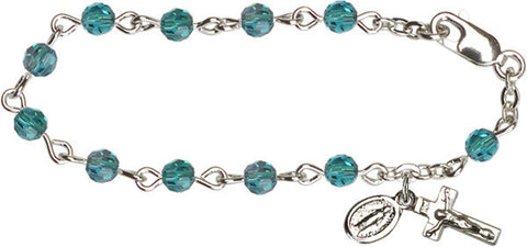 Zircon Infant Rosary Bracelet