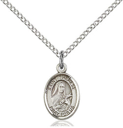 .925 SILVER ST THERESE PENDANT (OVAL)