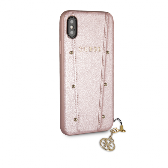 Guess Rose Gold Hard Phone Case for iPhone XS