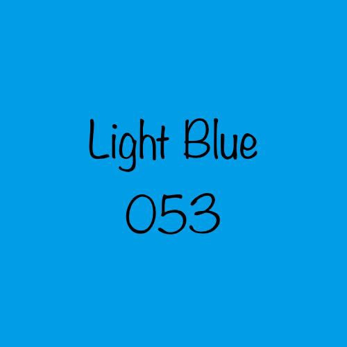 Oracal 651 Permanent Adhesive Vinyl Light Blue (053)