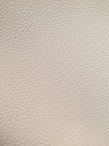 Faux Leather Litchi Solid White