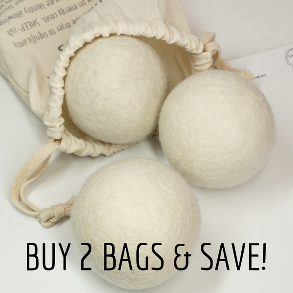 Buy 2 Bags and SAVE - 100% NZ Wool Dryer balls