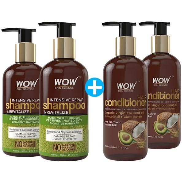 WOW Skin Science Intensive Repair Shampoo and Revitalize