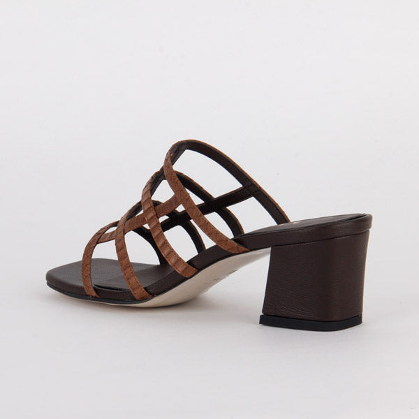 *MYKONOS , brown, 5cm size UK 2.5