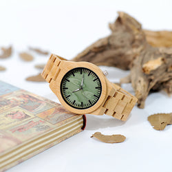 BOBO BIRD WB22 Brand Design Creative Fashion Nature Bamboo Mens Watch Silver Pointer Bamboo Band Watches Wood Box US SPAIN