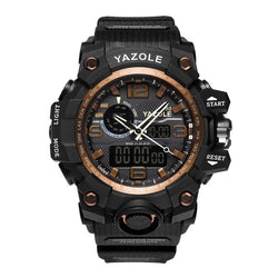 Dual Display Men'S Shock-Resistant Sports Watch Multi-Function Quartz Digital Watch