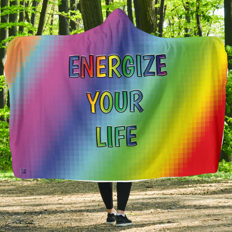 ENERGIZE YOUR LIFE HOODED BLANKET