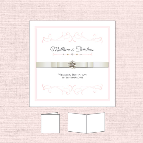 Grace - Ribbon Folded Invitation