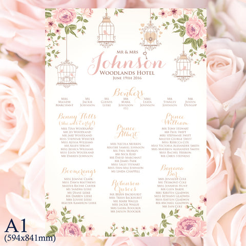 A1 Print only table plan