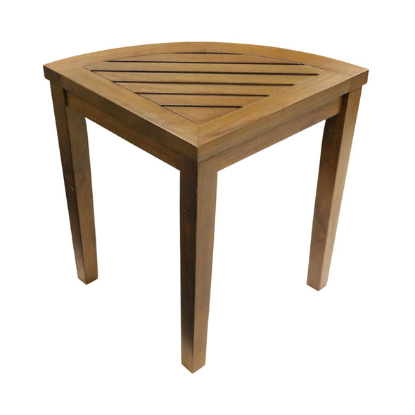 ALA TEAK Corner Wood Bath Spa Shower Stool Corner Table Bench Shelf Storage - ALA TEAK
