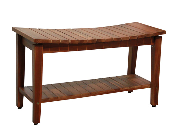 Ala Teak Indoor Outdoor Patio Garden Yard Bath Shower Spa Waterproof Stool Bench Easy Assemble - ALA TEAK