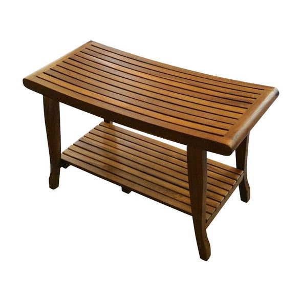 ALATEAK Indoor Outdoor Patio Garden Yard Bath Shower Spa Waterproof Stool Bench - ALA TEAK